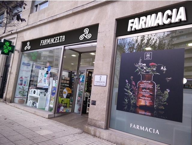 fachada-farmacelta-identidad-visual-corporativafarmaflow